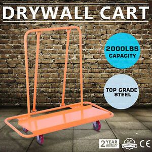 2000lbs Drywall Cart Dolly Handling Sheetrock Panel Casters Professional Trolley