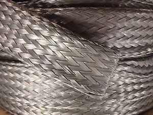 25 Foot 1 3 8 Tinned Copper Braid Tube Or Flat Wire Emi Shield Cable Strap