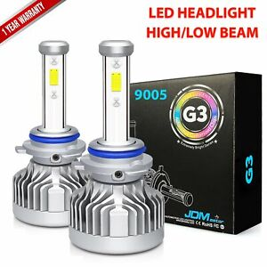 Jdm Astar G3 8000lm 9005ll 9005 hb3 Led Headlight High Beam Bulb White Drl Light