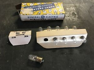Vintage Box Ge General Electric 43 2 5v Indicator Light Nos Bulbs Car Truck Auto