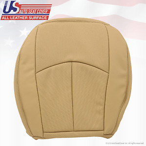 2008 2009 Mercedes Benz E350 Driver Bottom Seat Cover Perforated Leather Tan