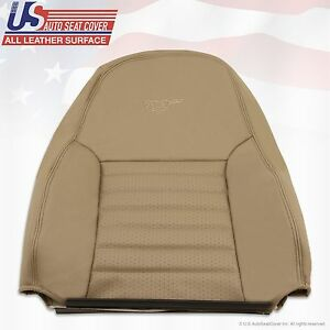 Ford Mustang Gt Driver Upper Back Leather Cover Tan 1999 2000 2001 2002 2003 04