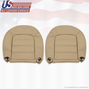 2002 2005 Ford Explorer Xls Driver Passenger Bottom Leather Seat Cover Tan