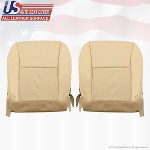 Fit 2010 Lexus Rx350 Driver Passenger Bottom Leather Seat Cover Tan Perforated