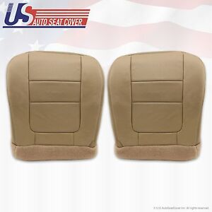 2001 Ford F250 F350 Lariat Driver Passenger Bottom Leather Seat Covers Tan