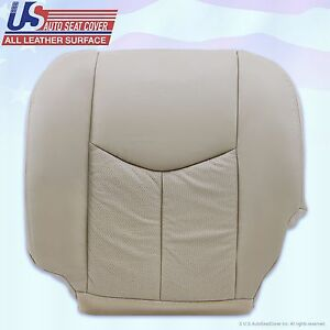 2003 2004 2005 Cadillac Escalade Driver Side Bottom Leather Seat Cover Tan 152