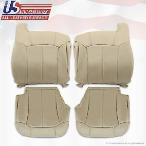 1999 2000 2001 2002 Chevy Tahoe Suburban Upholstery Leather Seat Cover s Shale