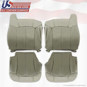1999 2000 2001 2002 Tahoe Suburban Silverado Upholstery Leather Seat Cover Gray