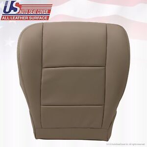 Fits 2000 To 2004 Toyota Tundra Sequoia Driver Bottom Leather Seat Cover Tan