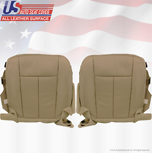 2011 2012 Ford Expedition Driver Passenger Bottom Perforated Leather Cover Tan
