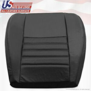 1999 2000 2001 Ford Mustang Driver Bottom Perforated Leather Seat Cover Black
