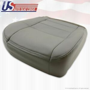2002 2007 Ford F 250 Lariat Super Duty Driver Bottom Leather Seat Cover Gray
