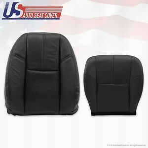 2007 To 2012 Chevy Silverado Passenger Bottom Top Leather Seat Covers Black