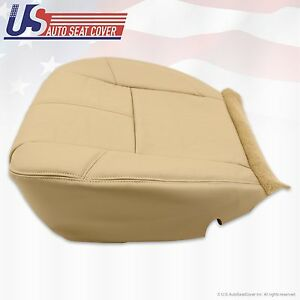 2007 To 2014 Chevy Silverado Passenger Bottom Leather Seat Cover Cashmere Tan