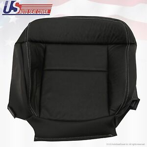 2004 To 08 Ford F 150 Fx4 Xlt Driver Bottom Leather Seat Cover Black Perforated
