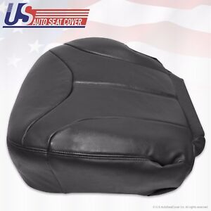 2001 2002 Gmc Sierra 2500 2500hd Driver Side Bottom Leather Seat Cover Dark Gray