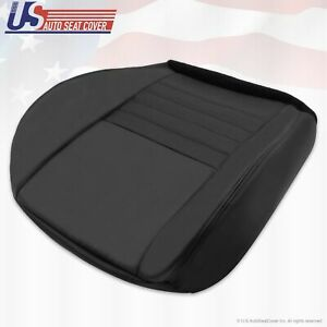 1999 2004 Ford Mustang Gt 2 door Driver Bottom Perforated Leather Seat Cover Blk