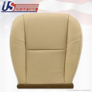 2007 2008 Cadillac Escalade Passenger Bottom Leather Seat Cover Tan Perforated