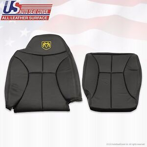 2001 Dodge Ram 1500 Driver Bottom Lean Back Vinyl Seat Cover Dark Gray