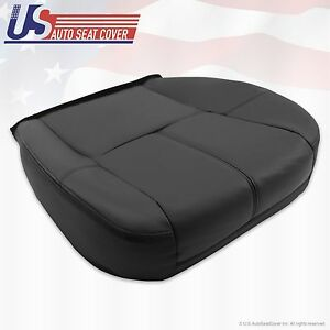 2007 2013 Chevy Silverado Avalanche Driver Bottom Leather Seat Cover Black