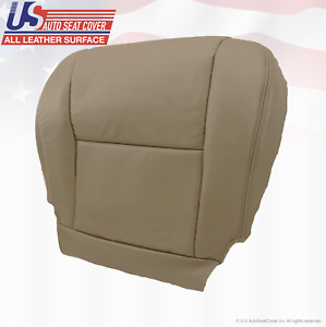 For 2005 2006 2007 Toyota Tundra Sequoia Driver Bottom Leather Seat Cover Tan
