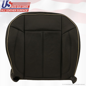2006 2007 Hummer H3 Passenger Side Bottom Replacement Leather Seat Cover Black
