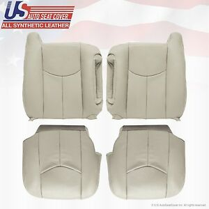 2003 06 Tahoe Suburban Yukon Synthetic Leather Seat Cover Replacement Shale Tan