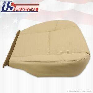 2008 Cadillac Escalade Driver Seat Bottom Leather Cover Light Tan Perforated