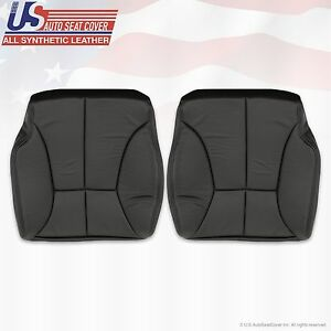 1998 To 2002 Dodge Ram 2500 3500 Front Bottoms Leatherette Seat Cover Dark Gray