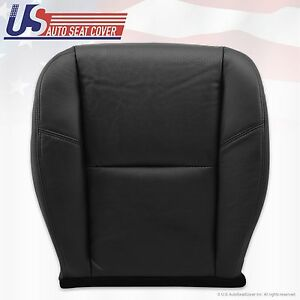2007 Cadillac Escalade Driver Side Seat Bottom Leather Cover Black Perforaded