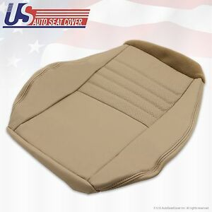 1999 To 2004 Ford Mustang Gt Manual Driver Bottom Leather Seat Cover Tan