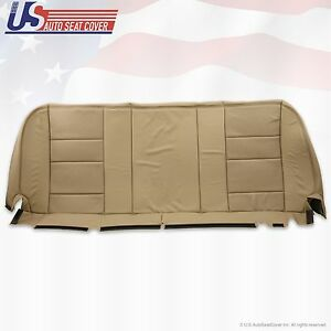 2002 2007 Ford F250 Super Duty Lariat Rear Bottom Leather Bench Seat Cover Tan