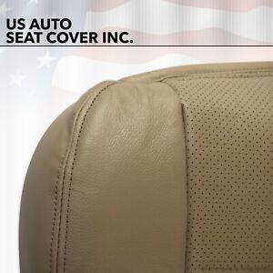 02 To 07 Ford F350 Lariat Driver Bottom Leather Seat Cover Tan Perforated Heated
