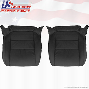 For 2008 Acura Tl Driver Passenger Bottom Replacement Perforated Leather Black