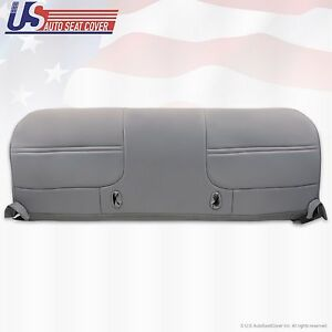 1999 2000 2001 Ford F350 Work Truck Bench Bottom Vinyl Seat Cover Graphite Gray