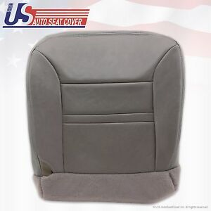 2001 Ford Excursion Limited Passenger Side Bottom Leather Seat Cover Gray