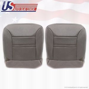 2000 Ford Excursion Limited Driver Passenger Bottom Leather Seat Cover Gray