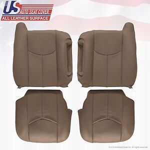 2003 To 06 Gmc Sierra 1500 2500 3500 Hd Upholstery Leather Seat Cover Tan