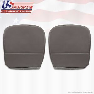 2008 Ford F250 F350 F450 F550 Xl Driver Passenger Bottom Vinyl Seat Cover Gray
