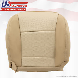 2009 2010 Ford Explorer Driver Side Bottom Leather Seat Cover Two Tone Tan