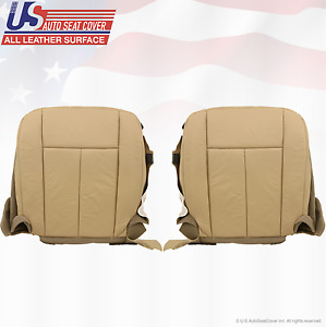 2007 2008 Ford Expedition Driver Passenger Bottom Leather Seat Cover Tan