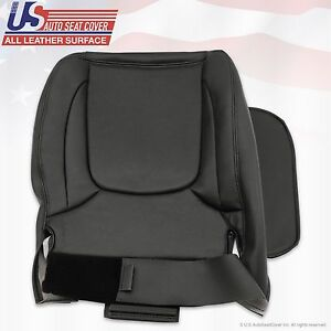 2004 2005 Dodge Ram 3500 Laramie Passenger Bottom Leather Seat Cover Dark Gray
