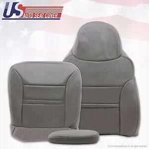 2001 Ford Excursion Limited Passenger Bottom Top Armrest Leather Seat Cover Gray