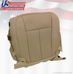 2007 2014 Ford Expedition Passenger Bottom Perforated Leather Seat Cover Tan