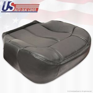 99 02 Chevy Tahoe Suburban Driver Bottom Leather Seat Cover Graphite Dark Gray