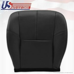 2007 13 Chevy Avalanche 1500 2500 Hd Driver Bottom Leather Seat Cover Black