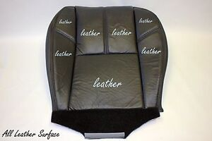 2007 To 2009 Gmc Yukon Denali Passenger Side Bottom Leather Seat Cover Black