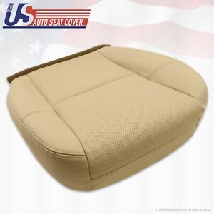 2007 2008 Cadillac Escalade Right Front Bottom Leather Seat Cover Tan Perforated