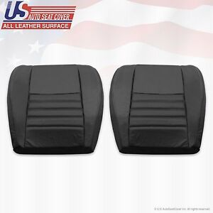 2002 Ford Mustang Driver Passenger Bottom Perforated Leather Seat Cover Black