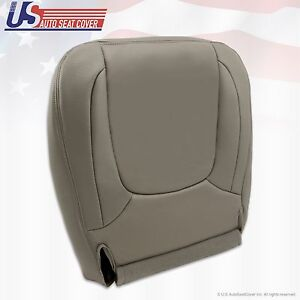 2004 2005 Dodge Ram 1500 Laramie Driver Side Bottom Leather Seat Cover Taupe
